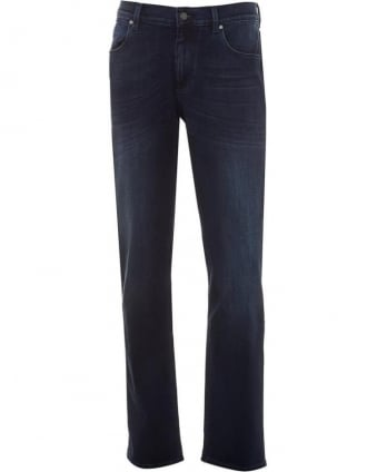 Mens Jeans Superior Luxe Performance Slim Navy Jean