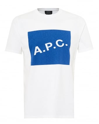 Mens Kraft T-Shirt, A.P.C. Box Logo White Tee