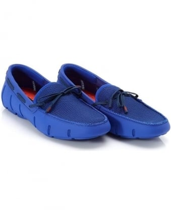 Mens Lace Loafers Royal Blue DT Mocassins