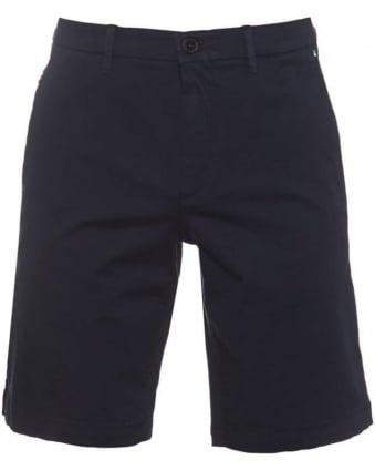 Mens Liem2-1-W Shorts Slim Fit Cotton Blend Short Dark Blue
