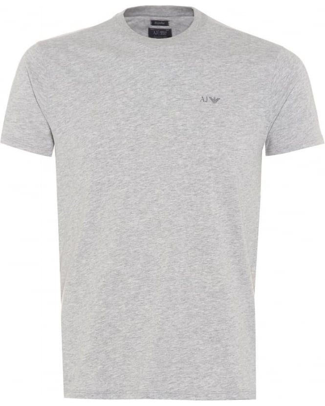 Armani Jeans Mens Marl T-Shirt, Regular Fit Logo Tee Grey