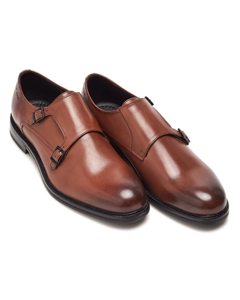 Mens Monk Shoes Tan