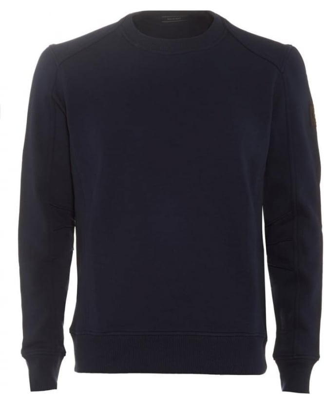 Mens New Chanton Sweatshirt Panelled Navy Blue Sweat