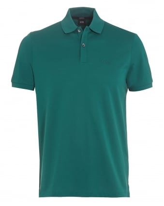 Mens Pallas Logo Polo Shirt Green