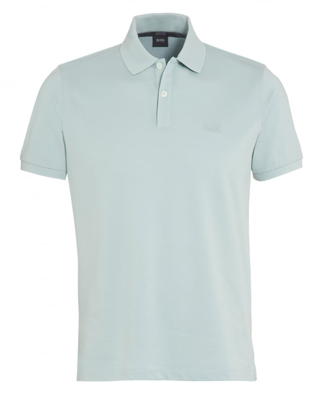 Hugo Boss Black Mens Pallas Logo Polo Shirt Mint Green