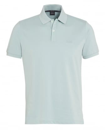 Mens Pallas Logo Polo Shirt Mint Green
