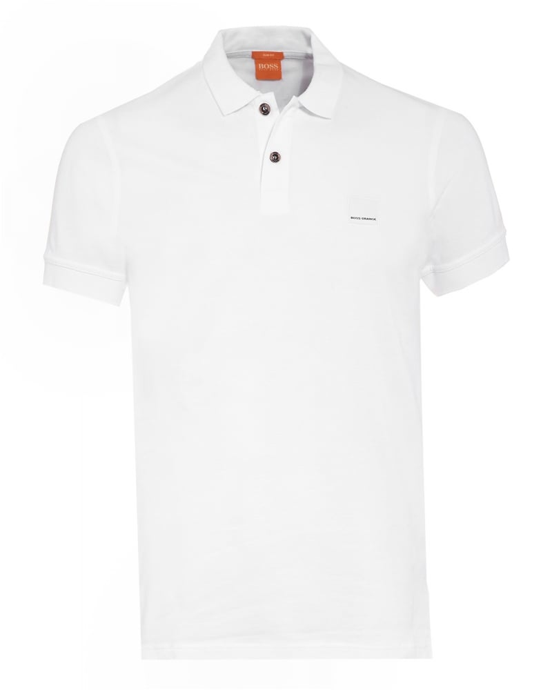 hugo boss orange mens pasha polo shirt white slim fit