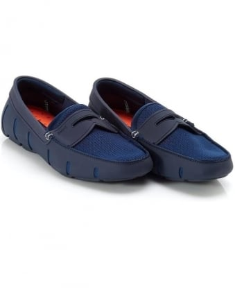 Mens Penny Loafers Navy Blue Loafer Shoes