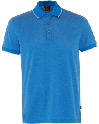 Mens Polo Shirt Genova Blue Regular Fit Polo