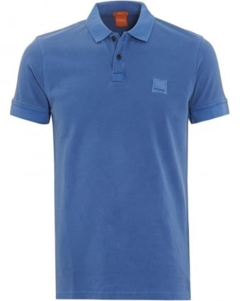 Mens Polo Shirt Pascha Slim Fit Blue Polo