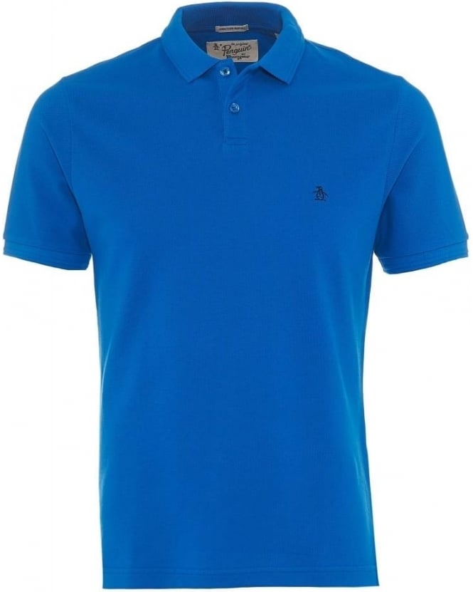 Original Penguin Mens Polo Shirt Winston Small Logo Blue Polo