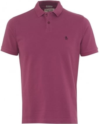 Mens Polo Shirt Winston Small Logo Grape Pink Polo