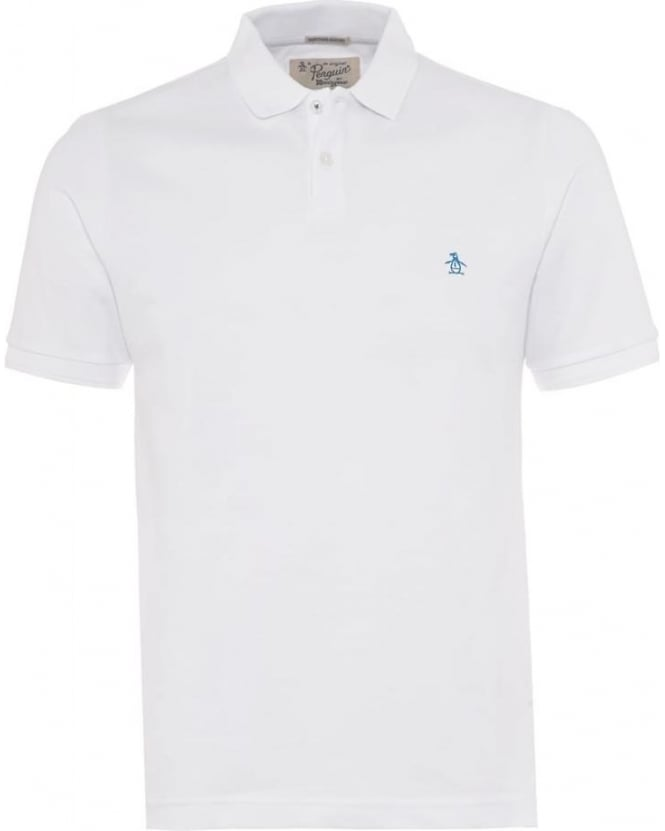 Original Penguin Mens Polo Shirt Winston Small Logo White Polo