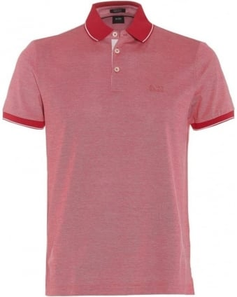 Mens Prout 01 Polo Shirt, Dark Pink Regular Fit Polo