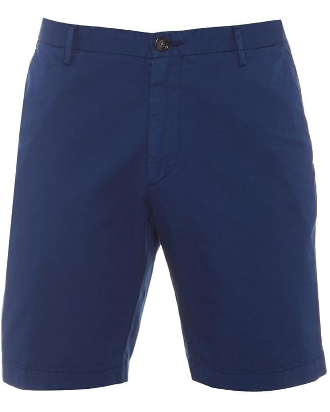 Hugo Boss Black Mens Rice Shorts, Mid Blue Chino Shorts