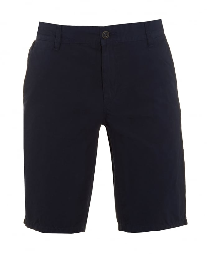 Hugo Boss Orange Mens Sairy Short, Navy Blue Cotton Chino Shorts