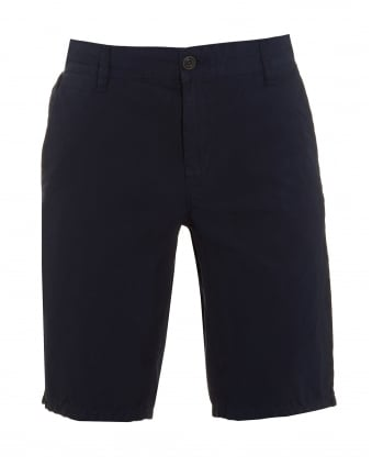 Mens Sairy Short, Navy Blue Cotton Chino Shorts
