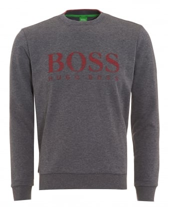 Mens Salbo Jumper, Logo Fleck Sweatshirt Grey