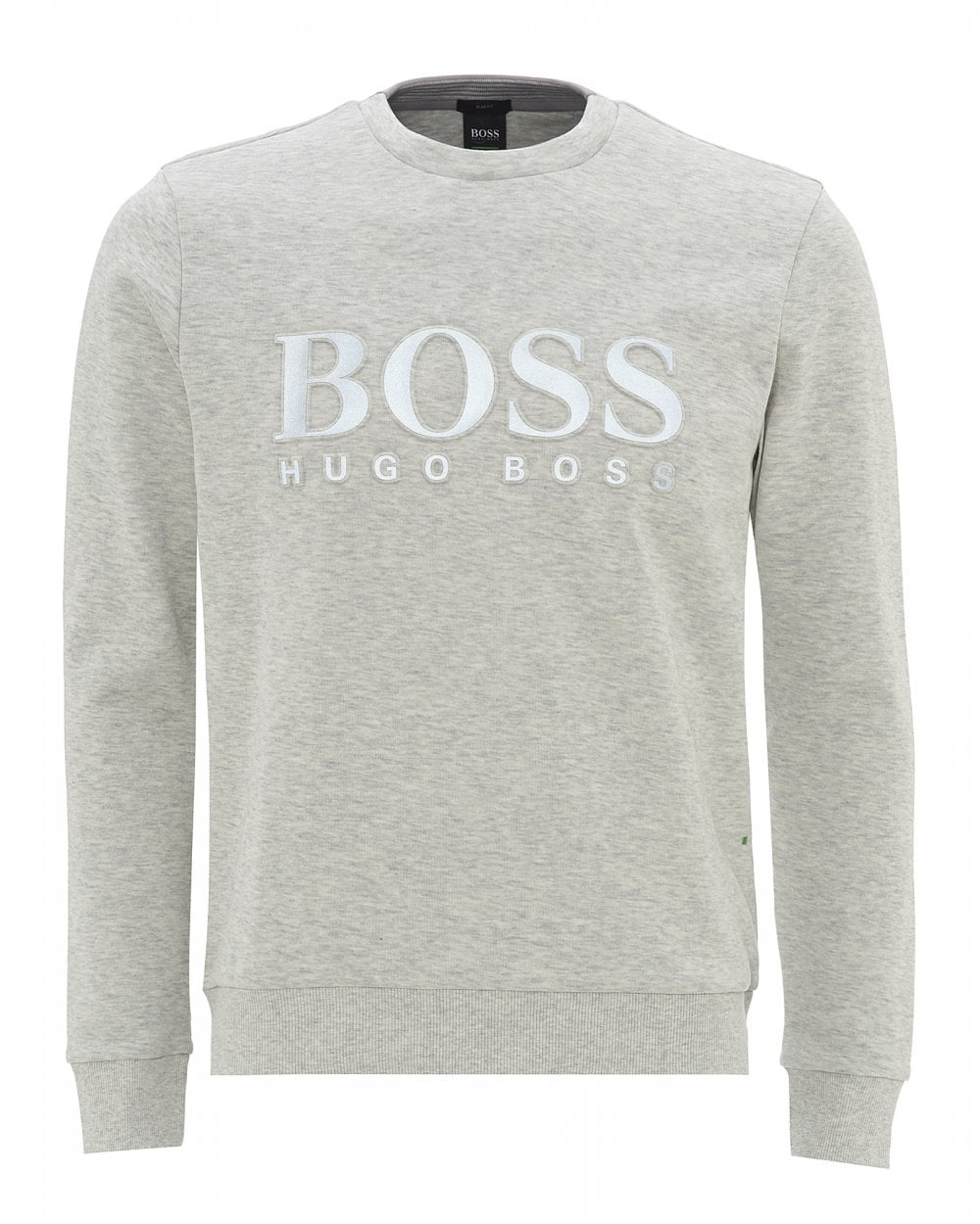 d69fb9a0bf BOSS Mens Salbo Slim Fit Sweat, Embossed Logo Sweatshirt