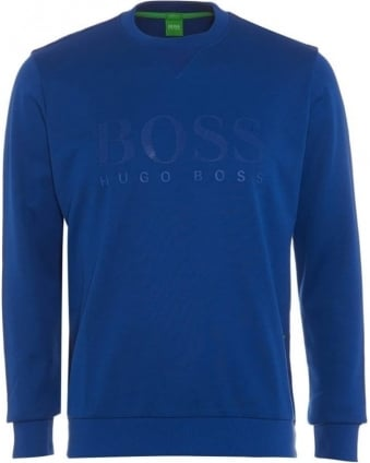 Mens Salbo Sweatshirt Blue Large Logo Jumper