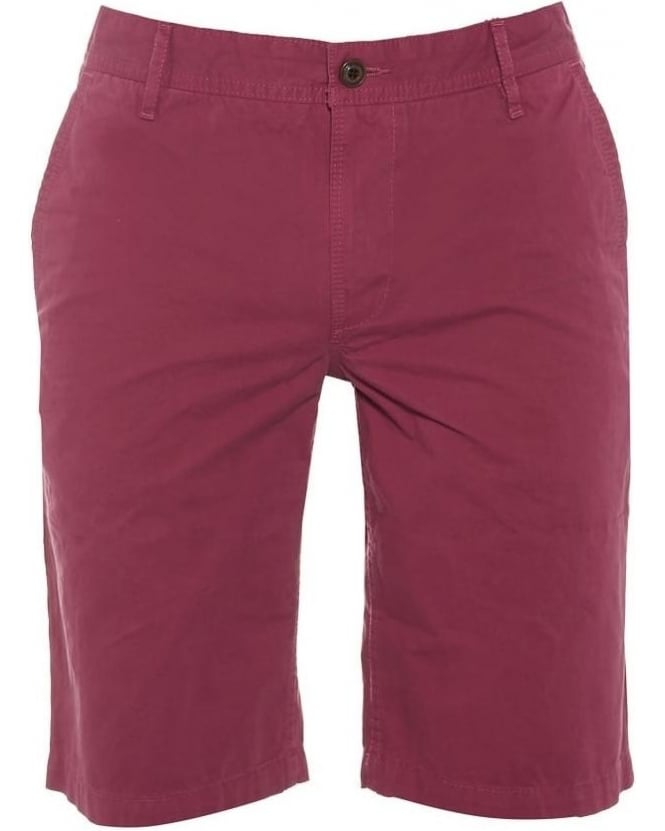 Hugo Boss Orange Mens Schino Chino Shorts, Pink Regular Fit Short