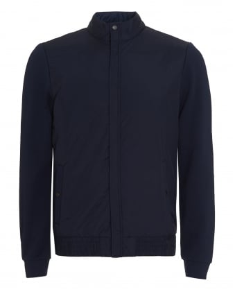 Mens Shepherd 03 Jacket, Navy Blue Regular Fit Bomber