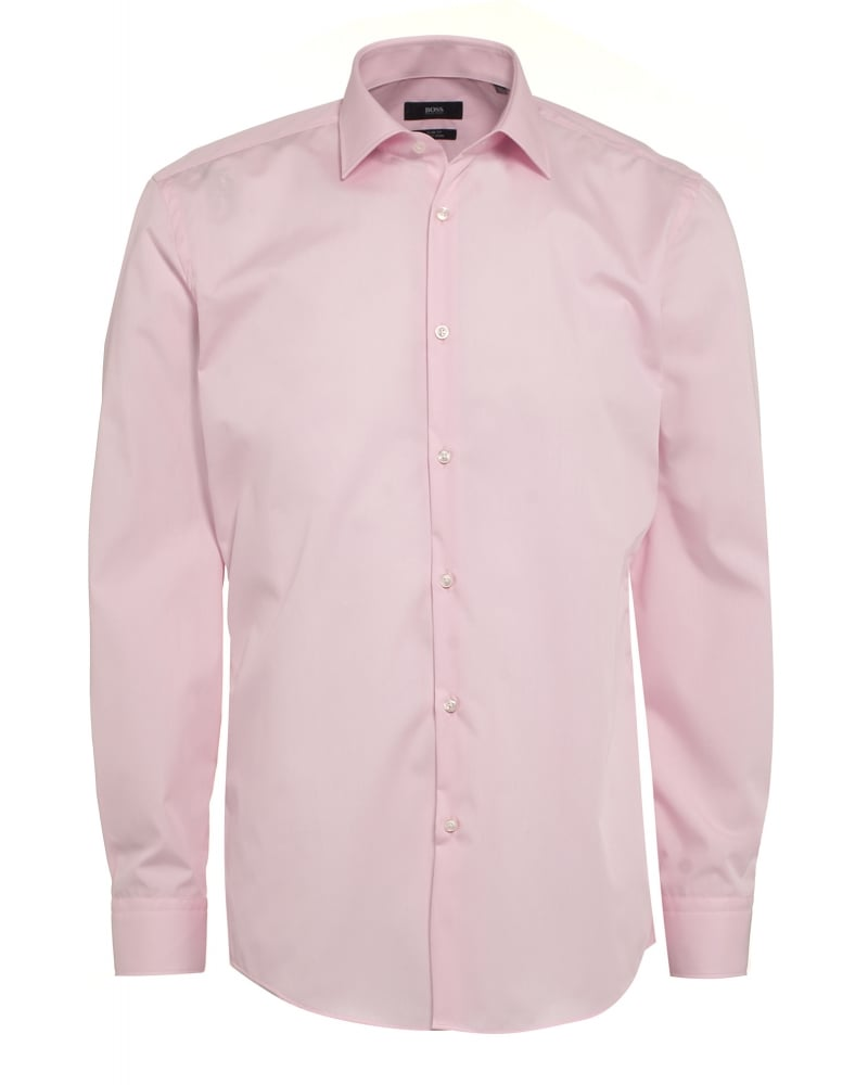 Hugo Boss Classic Mens Shirt Jenno Slim Fit Light Pink Shirt