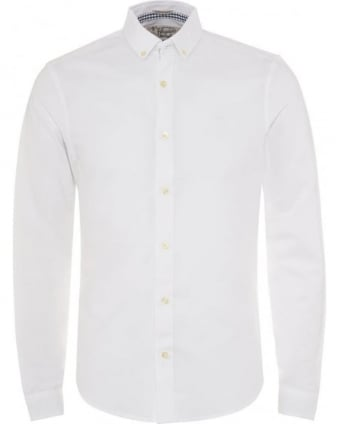 Mens Shirt Straight Up Oxford Slim Fit White Shirt