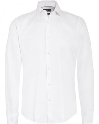 Mens Shirt, White Cotton Dinner Shirt