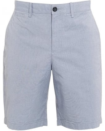 Mens Shorts Micro Stripe Sky Blue Regular Fit Short