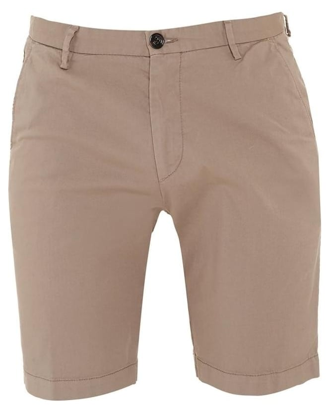 Hugo Boss Black Mens Shorts RiceShort3-D Beige Chino Short