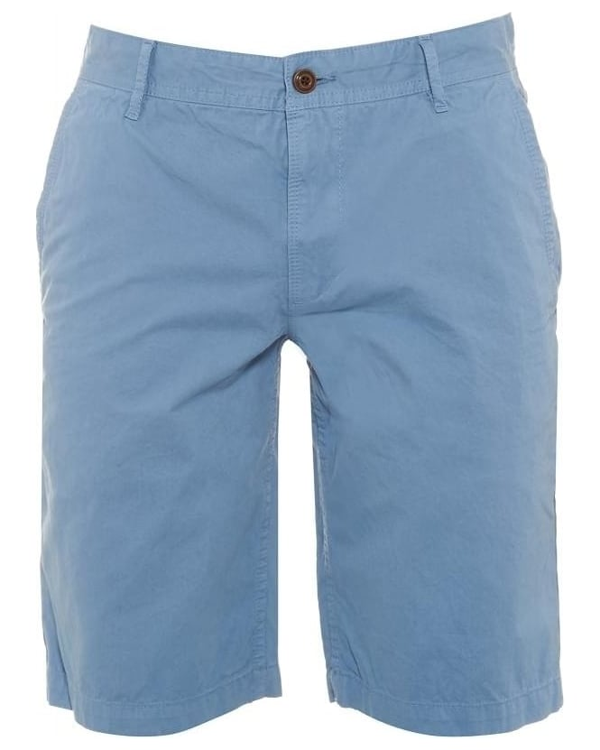 Hugo Boss Orange Mens Shorts Schino Regular Slim Sky Blue Cotton Short