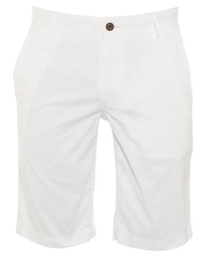 Hugo Boss Orange Mens Shorts Schino Regular Slim White Cotton Short