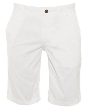 Mens Shorts Schino Regular Slim White Cotton Short