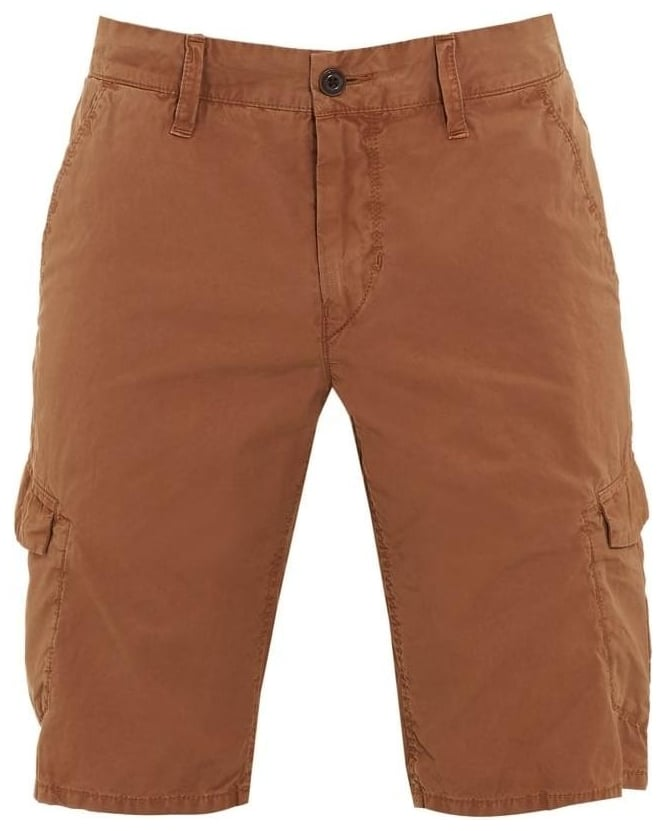 Hugo Boss Orange Mens Shorts Schwinn4-Shorts-D Brown Cargo Short