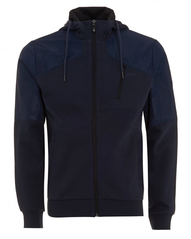 Hugo Boss Green Mens Sivon Sweat Hood Jacket Navy