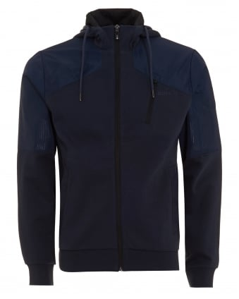 Mens Sivon Sweat Hood Jacket Navy