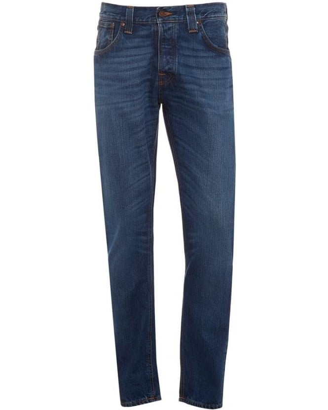 Nudie Jeans Mens Steady Eddie Jean, True Classic Organic Denim