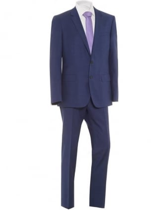 Mens Suit Huge Genius Blue Shark Skin Slim Suit