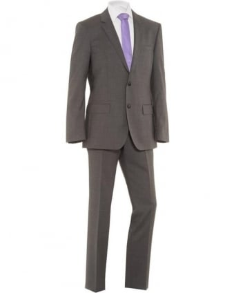 Mens Suit Huge Genius Grey Super 110 Wool Suit