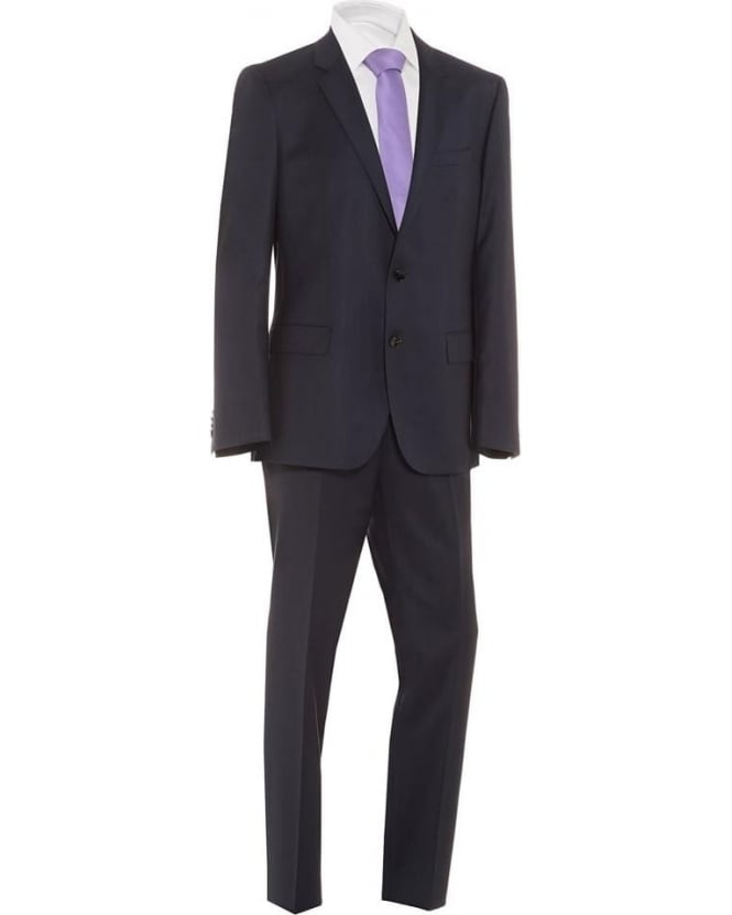 Hugo Boss Black Mens Suit Huge Genius Stretch Slim 2 Button Navy Suit