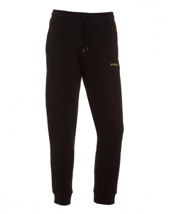 Mens Sweat Pants, Black Gold Logo Joggers