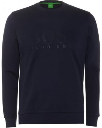 Mens Sweatshirt Salbo Large Logo Dark Blue Jumper