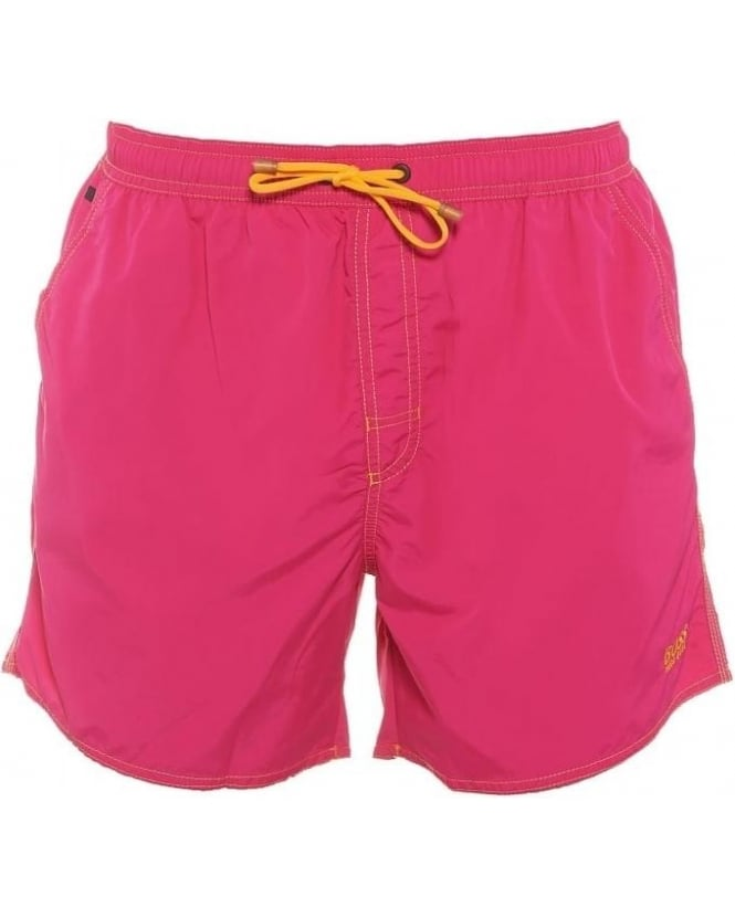 Hugo Boss Black Mens Swim Shorts Lobster Pink Shorter Length Quick Dry