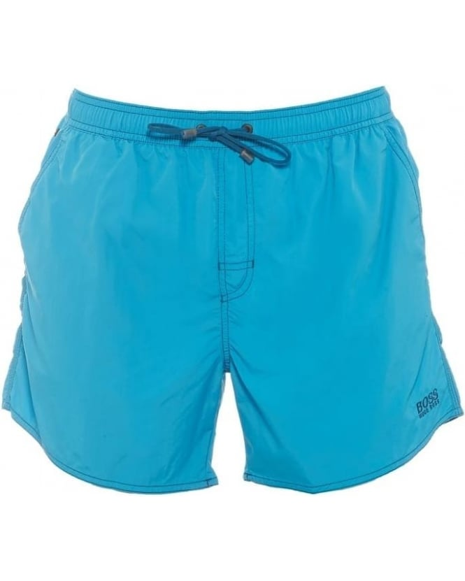 Hugo Boss Black Mens Swim Shorts Lobster Turquoise Quick Dry Short