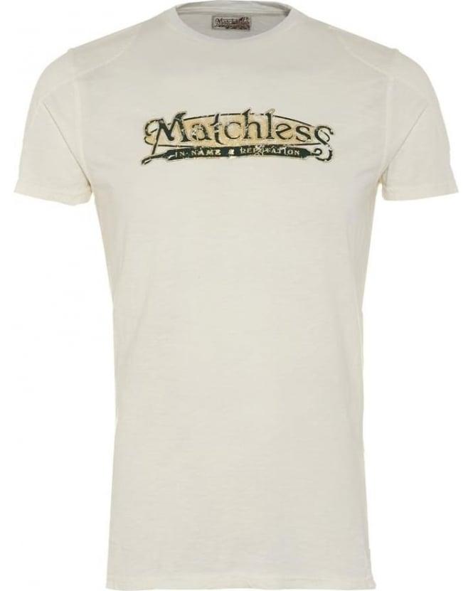 matchless mens tshirt, brand logo white tee
