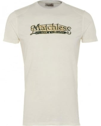 Mens T-Shirt, Brand Logo White Tee