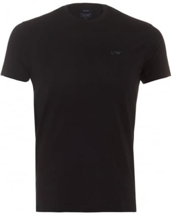 Mens T-Shirt Regular Fit Logo Black Tee