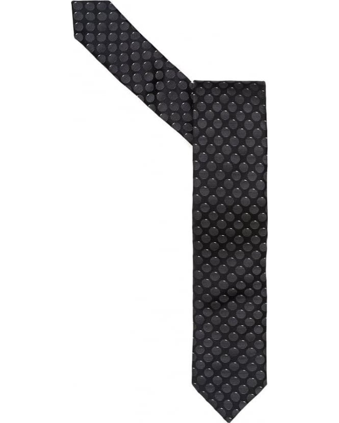 Hugo Boss Black Mens Tie Circle Print Black Tie