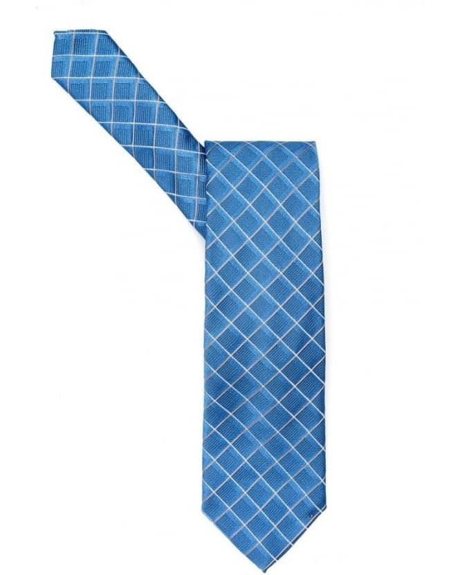 Hugo Boss Black Mens Tie Diamond Crossover Sky Blue Tie